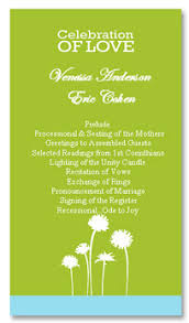 Wedding Reception Programs Wedding Program Recommendations The Wedding Specialiststhe