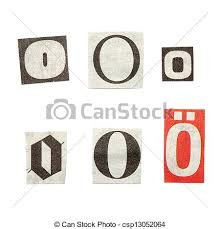 stock image of newspaper letters set of letters cut out from