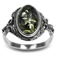 sterling gem rings images Sterling silver green yellow amber oval ring vintage jpg