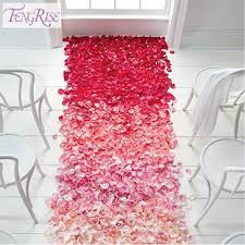 fengrise wedding events decoration 500pcs silk rose petals table