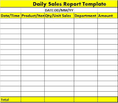 sale report template excel daily sales report template excel tm sheet