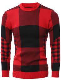 plaid sweater 2xl slim fit crew neck plaid sweater nastydress com