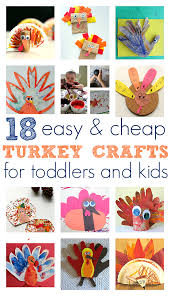 easy turkey crafts for toddlers and no time for flash cards