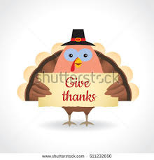 happy thanksgiving give thanks illustration stock vector