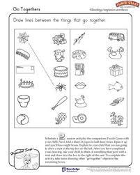 worksheets for kg students go togethers logical reasoning worksheets for kindergarten