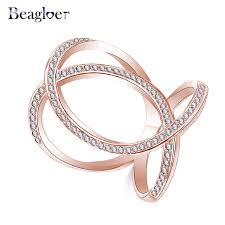 aliexpress buy beagloer new arrival ring gold beagloer new sparkling crown princess rings gold silver color