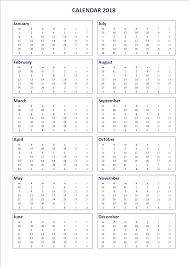 free 2018 calendar excel a3 portrait templates at