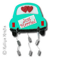 Just Married Cards Card Topper Wedding Car Just Married 0 59 Card Making