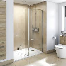 8mm walk in recess shower enclosure pack 1600 x 800 with shower tray