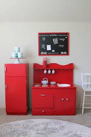 Red Kitchen Set - playroom kitchen set inspired