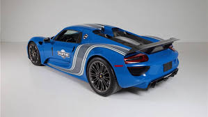 martini porsche 918 buy the world u0027s only factory voodoo blue porsche 918 spyder