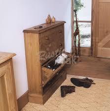 Oak Shoe Storage Cabinet Mottisfont Standard Shoe Rack Rustic Oak