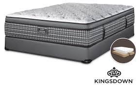 kingsdown aurora king mattress boxspring set leon u0027s