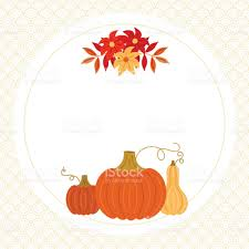 thanksgiving autumn fall greeting card template with pumpkin