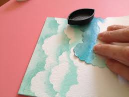 how to make chalk ink clouds from scrapbook steals diy cards