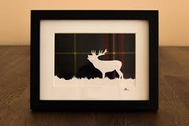 Deer Home Decor by Paper Cutting Template Stag Papercut Deer Scotland