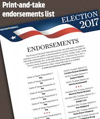 recommendations endorsements from the houston chronicle