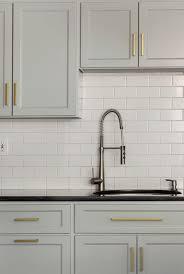 gray kitchen cabinets with bronze hardware kitchen decoration