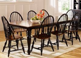 chairs to go with farmhouse table thinking of black windsor chairs to go with my espresso farm table