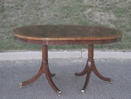 Oval Pedestal Dining Room Table Iconic Furniture Oval Pedestal Dining Table Hayneedle Oval