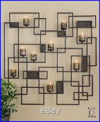 New Huge 48 Forged Metal Decorative Wall Sculpture Sconce Candle