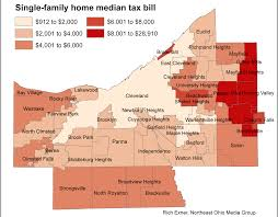 Ohio Sales Tax Map by Ranking Cuyahoga County Towns For Typical Property Tax Bills
