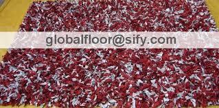 Leather Shag Rug Leather Shag Area Rug Red White Mix Leather Shaggy Rug Leather