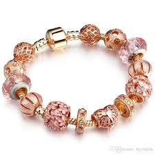 bangle charm bracelet gold images High quality rose gold pandora bracelets charms european diy jpg