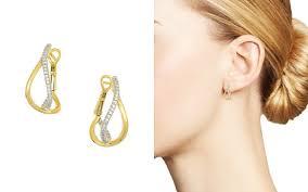 small diamond hoop earrings small hoop earrings bloomingdale s