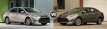 toyota yaris vs corolla comparison compare 2017 toyota corolla le vs corolla xle