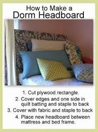 Easy Headboard Ideas This Easy Headboard Diy For A Dormroom Is Your New Plan Of
