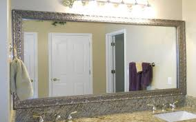 Framed Bathroom Mirrors Ideas Brushed Nickel Framed Bathroom Mirror House Decorations