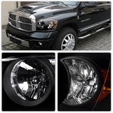 dodge ram headlight xenon 06 08 dodge ram 1500 2500 3500 headlights black