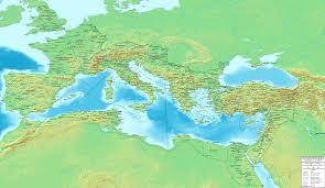 Roman World Map by The Roman Empire Ca 400 Ad