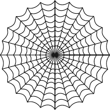 spider web coloring page free to download 7302