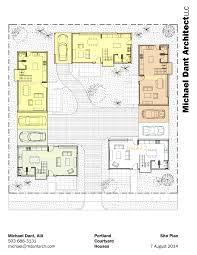 courtyard house plans 61custom contemporary modern also center