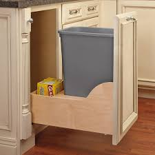 under sink trash pull out rev a shelf 10 gallon pullout trash can reviews wayfair