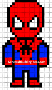 minecraft pixel art templates spiderman