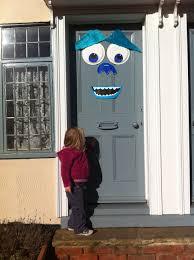 a sully front door decoration my monster door for halloween it u0027s