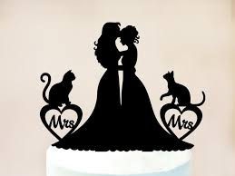 cat cake topper cake topper with cat with cats wedding