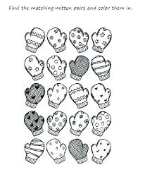 Free Winter Holiday Coloring Pages Preschool Mitten Printable Coloring Pages Preschool