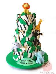 baby gone wild baby shower jungle cake custom baby shower cakes
