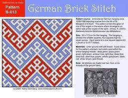 Ruby Red Long Brick Stitch 25 Best German Brick Stitch Counted Embroidery Weave Stitch