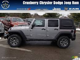 dodge jeep silver 2013 billet silver metallic jeep wrangler unlimited rubicon 4x4