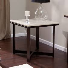 Small Living Room Tables Avorio Faux Travertine Square Coffee Table Hayneedle