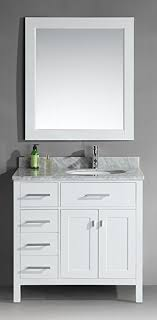 single sink vanity with drawers design element dec076d w l london 36 inch single sink vanity set