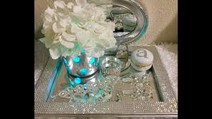 vanity trays for perfume silver vanity tray with rhinestones diy youtube