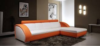orange leather sectional sofa modern white and orange leather sectional sofa modern living