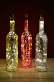 wine bottle string lights christmas decorations mercury glass glass bottle and bottle