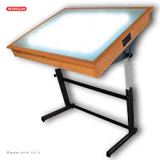 Drafting Table With Light Box Light Drafting Table Midcentury Retro Style Modern Architectural